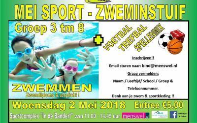 Mei Sport-Zweminstuif