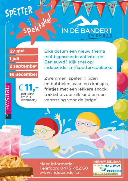 Kinderfeestje Zwembad In de Bandert